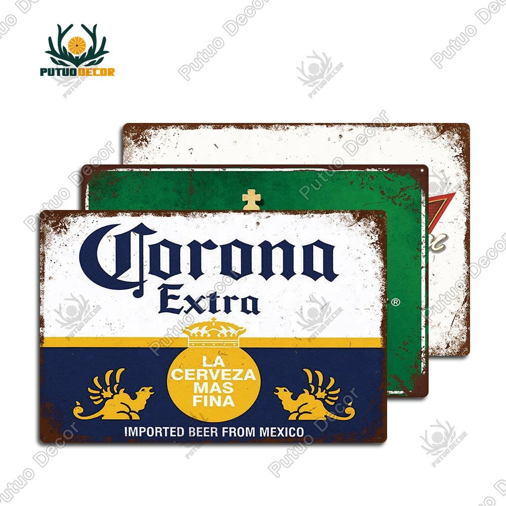 Groothandel Beer Metal Emaille Bord Wall Decor Metalen Bord Porselein Borden Pub Bar Man Cave Club Decoratie