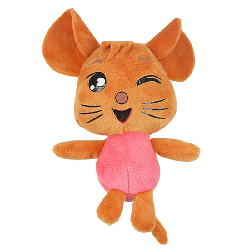 handcraft new type bag decoration 4inch 10cm mouse animals nifty Plush Keyring Doll