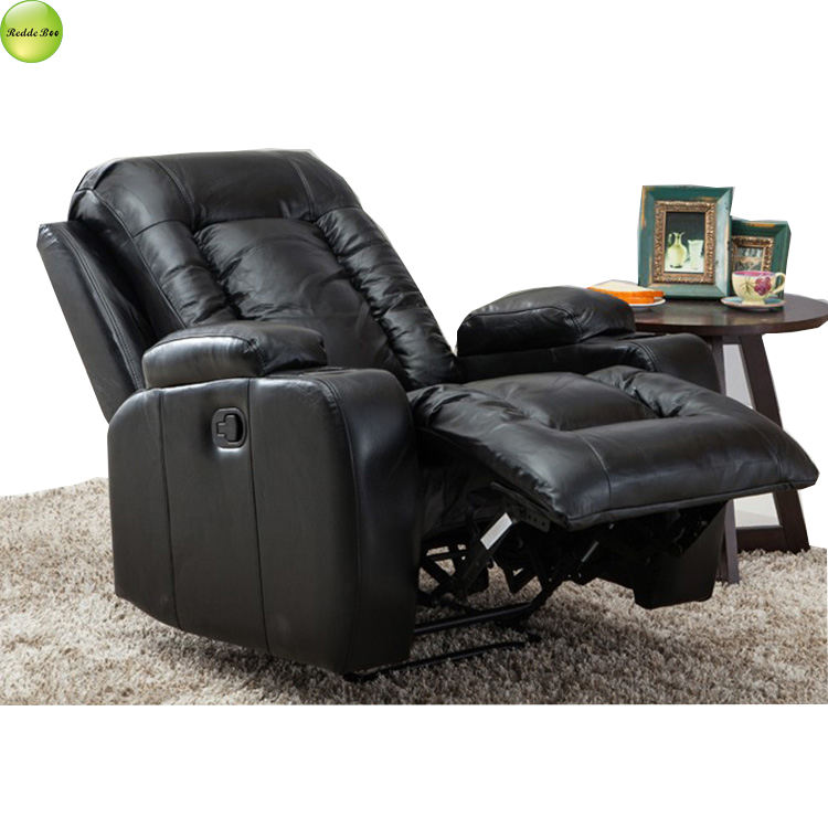 Home Theater Single Recliner Seater Sofa Lounge Relax Leather Wing Recliner Chairs Living Room Furniture