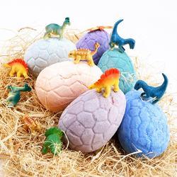 Funny CBD Bath 150g Box Colorful Private Label Bubble Natural Vegan Organic Hemp Fizzy Dinosaur Egg Bath Bomb Toys Inside