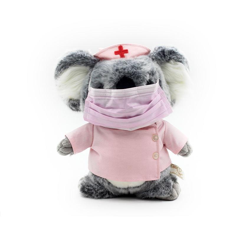2020 оптовая продажа розовый милый мягкий чучело коала <span class=keywords><strong>животных</strong></span> медсестры breathmask плюшевая игрушка
