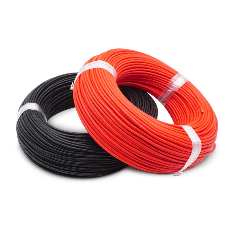 High Temperature 1mm Silicone Rubber Heating Fiberglass Braiding Cable