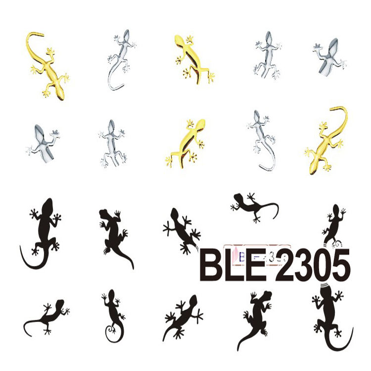 Nail Art Sticker Water Transfer Decal Fashion Design BLE Series