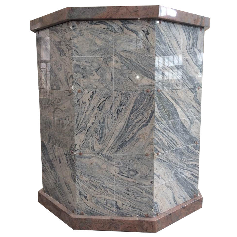 Haobo Stone Cemetery Granite 96 Niche Granite Columbaria For Sale