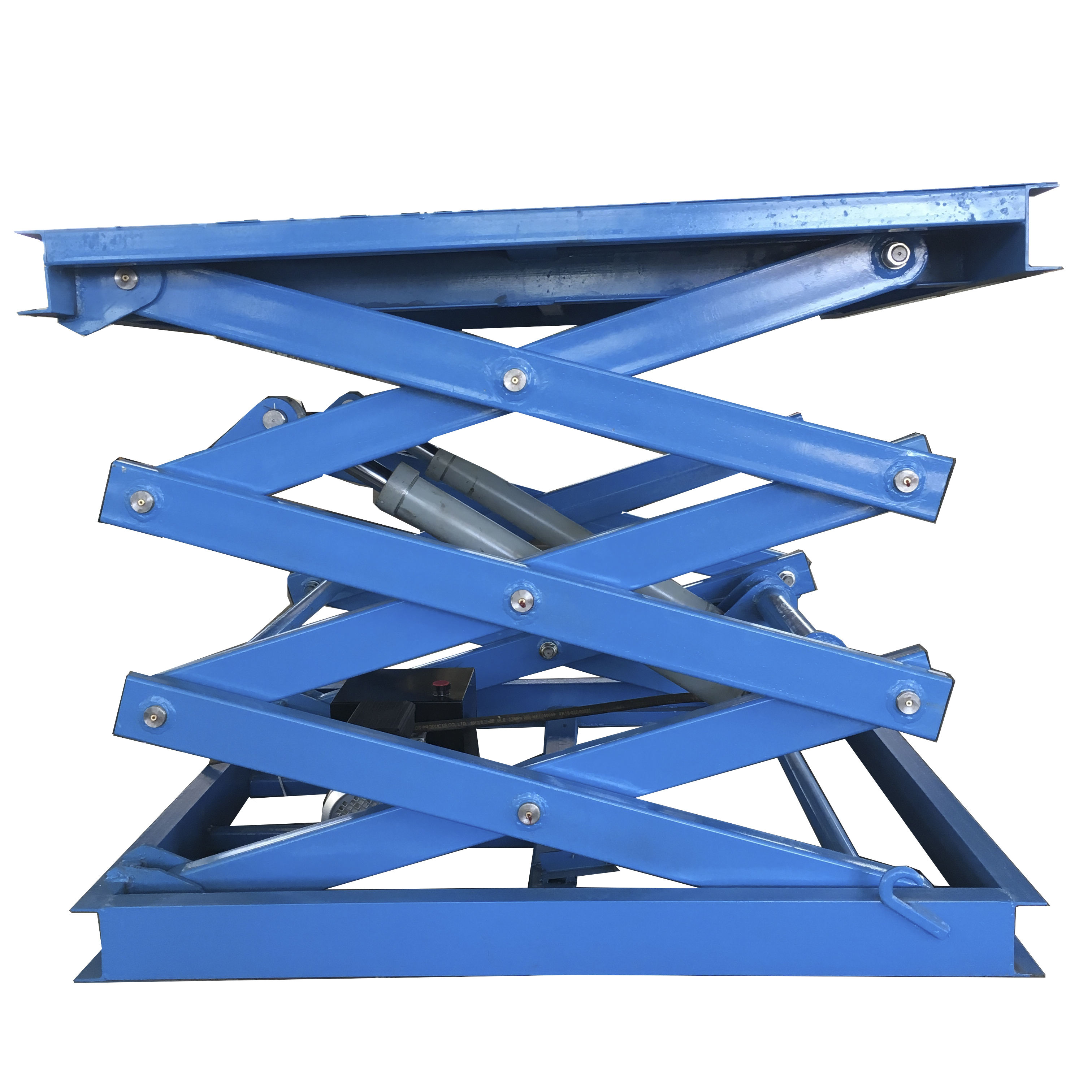 Professional 500kg capacity fixed hydraulic scissor car lift/stationary scissor lift platform used for sale