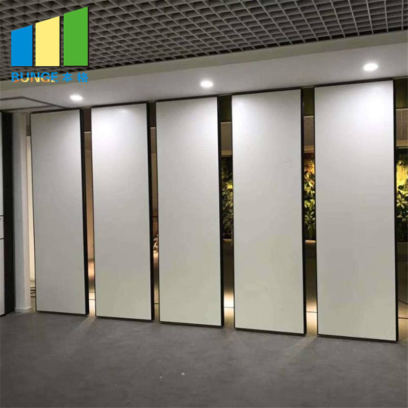 Aluminium Frame Acoustic Folding Door Partition Movable Partition Wall Board for Hotel