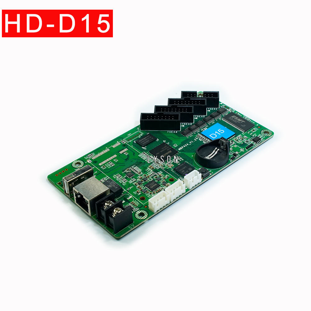 Huidu HD-D15 Asynchronous Penuh Warna LED Video Display Controller Menggantikan D10 Ibu Kartu