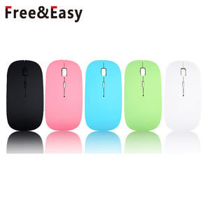 Massa Colorida Usb Ultra Slim 2.4G Wireless Optical Mouse Do Laptop Rosa