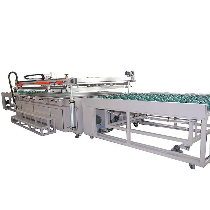 Automatic large flat glass silk screen printer for sale