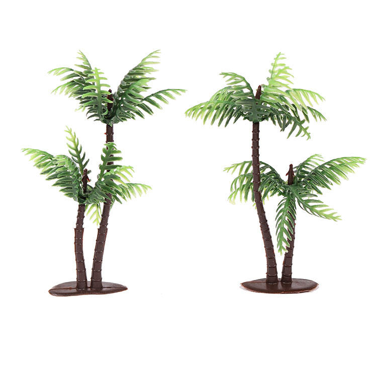 Hot販売Plastic Coconut Palm Tree Miniature Leaf Fake Plant Pots Bonsai Craft Micro Landscape Artificial Plants Para Decoration