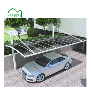High Quality and Cheap Aluminum Frame Cantilever Carport 2 Car Garage