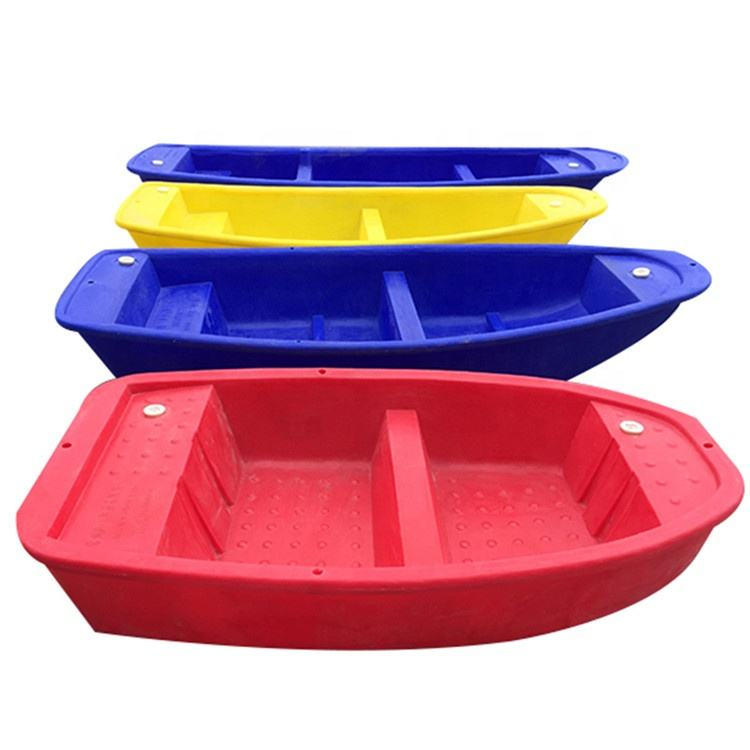 light weight Multifunctional rotational molding bass Plastic fishing boat for aquaculture with high quality