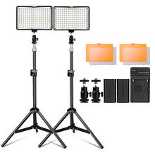 Travor TL-160S 2 set Professional video fill light equipment photography photo lamp kit led video light for photo studio