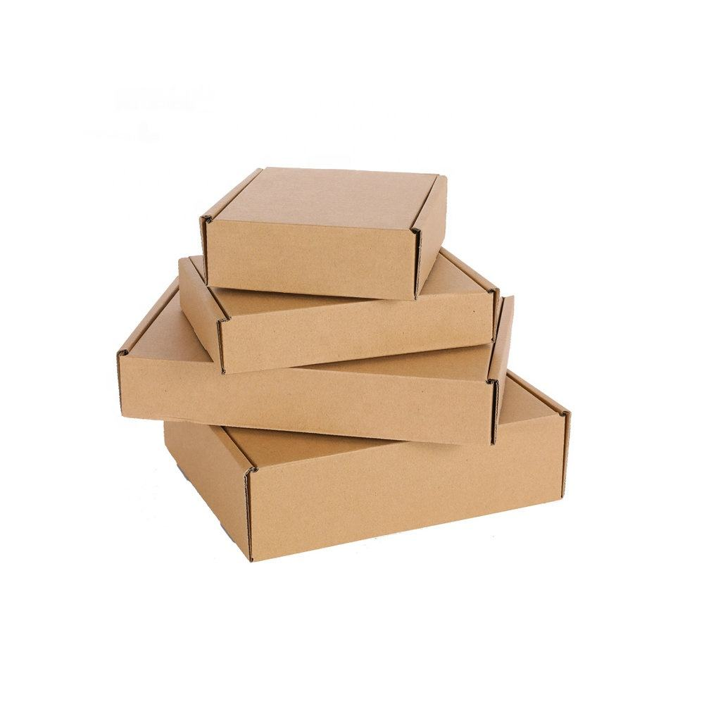 N*190*100mm Customized Size Strong Brown Corrugated Shipping Cartons Mailing Box OEM Box Packaging