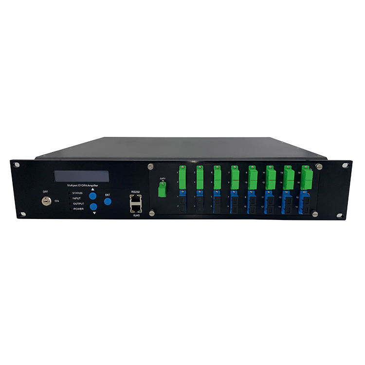 Triple Play Combiner GEPON Network 1550nm Catv Edfa 8 16 32 Ports Optical Amplifier Price with Wdm EDFA