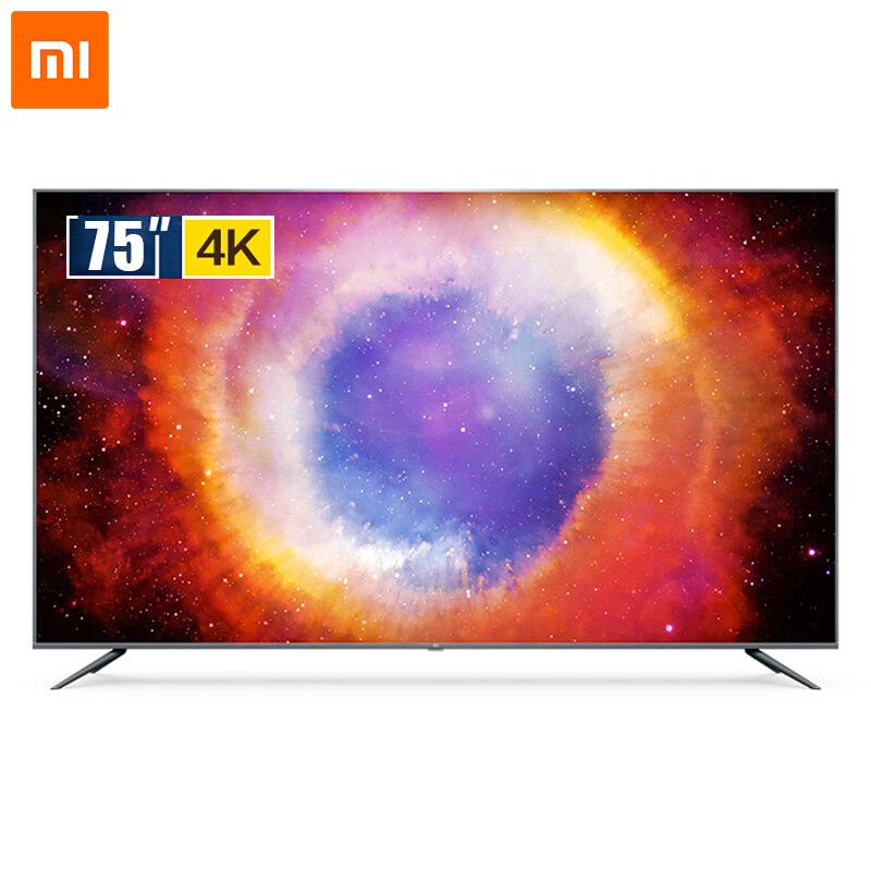 Originale Xiaomi Mi TV 4S 75-pollici 4K Ultra HD Smart TV LED Android Wifi Telecomando Vocale di controllo Ultra-sottile FHD 2GB + 8GB Dolby + DTS