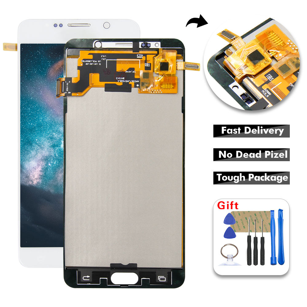 For Samsung Galaxy Note5 N920 N920V N920T N920A N9200 LCD Display Touch Screen Digitizer Assembly Replacement Free Tools