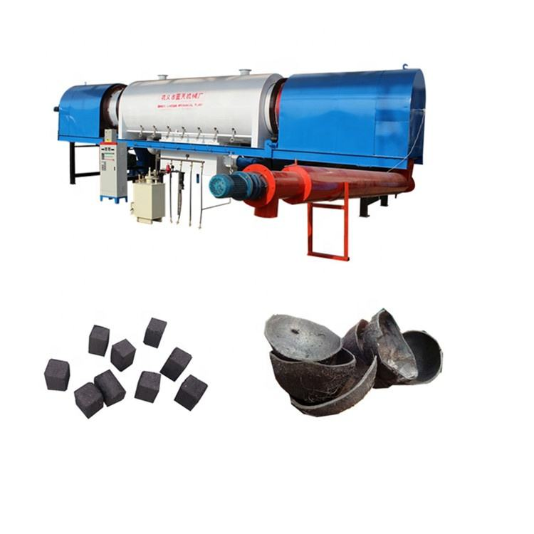 carbonization furnac coconut shell charcoal bamboo charcoal making machine sawdust briquette charcoal making machine
