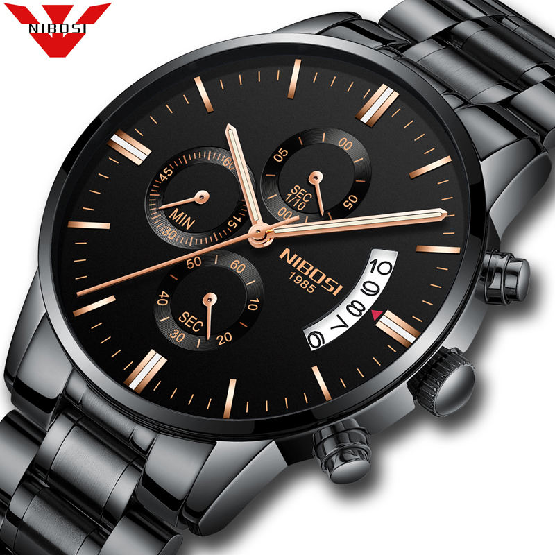 NIBOSI Men Watches Luxury Famous Top Brand Men's Fashion Casual Dress Watch Military Quartz Wristwatches Relogio Masculino