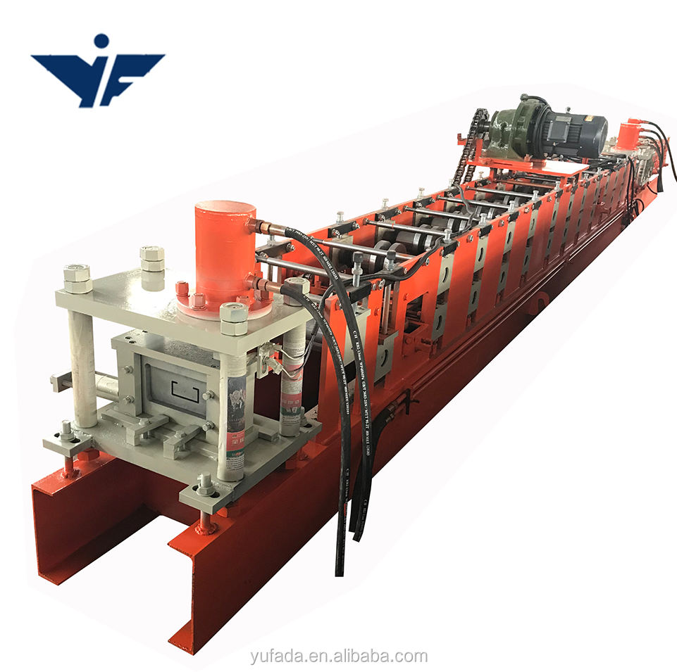 Cheap c-purlin steel roll former forming machine supplier