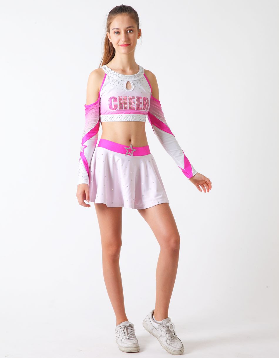 wholesale leotard and skirt,high quality cheerleading uniform, sublimated custom all star cheerleading uniforms