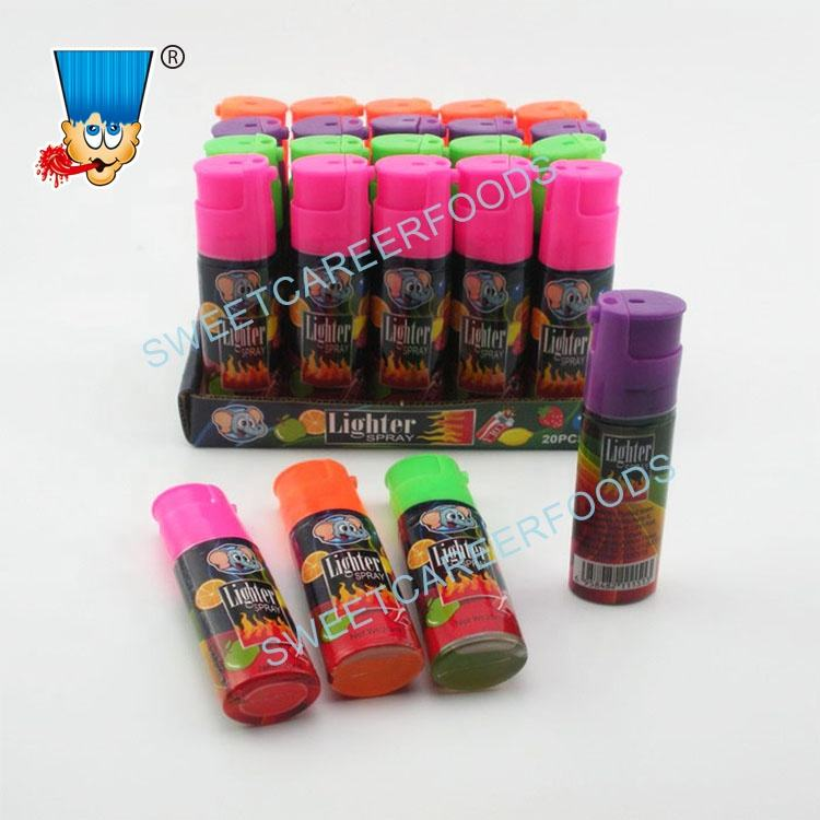 Lighter Shape Sour Spray Fruit Liquid Candy Confectionery