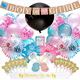 Baby Shower Pink Blue Theme Boy or Girl Banner Latex Balloon Tissue Flower Gender Reveal Party Decoration
