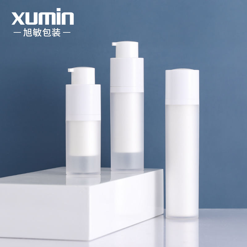 luxury cosmetic packaging 15ml airless pump bottle 30ml 50ml plastic lotion bottle