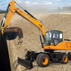 Hot sale wheel digger 13 ton earth moving excavator for sale