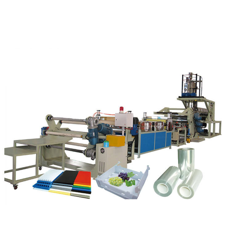 Recycle pet pp ps plastic double layer sheet making screw extruder sheeter machine