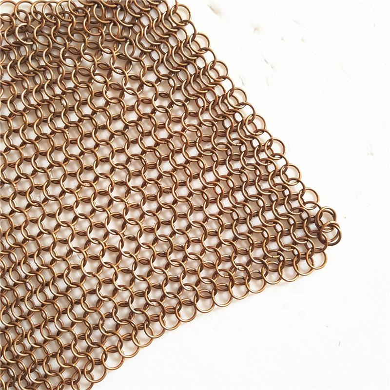 Stainless steel /copper /brass chainmail ring mesh curtain for drapery mesh