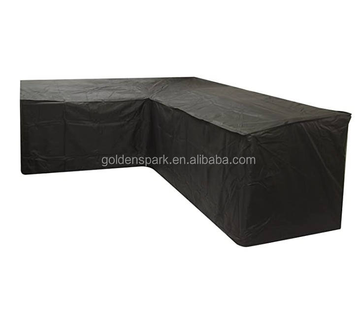 Black L Shape Outdoor Dining Patio Set Cover