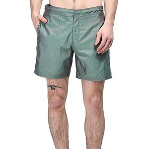 Stijlvolle Heren Night Photo Reflecterende Iriserende Groene Elastische Taille Board Shorts