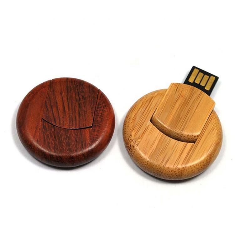 High Quality Round Wood Card Usb Flash Drive Import Computer Accessories Memory Stick Usb 2.0 3.0 1Gb 4gb 16gb Thumb Drive 8Gb