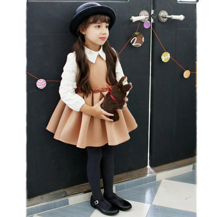 New design Kids Overstock Kid Clothing Flowered Long Dresses