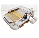 White Bedroom Funiture Modern Leather Bed