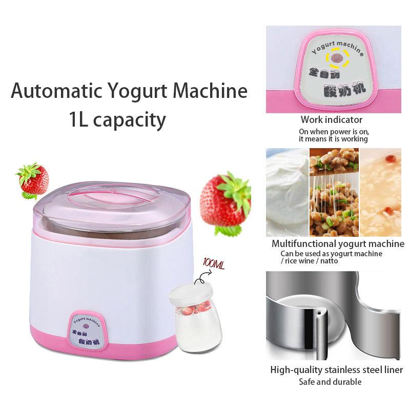Stainless Steel Automatic Yogurt Maker DIY Delicious Yoghurt Container Orange GW