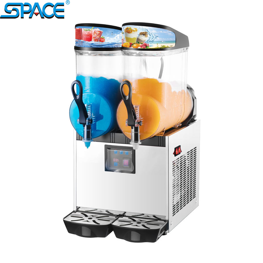 Two Bowls Smooth Granita Slush Machine Slushie Machine With LED Light Lids