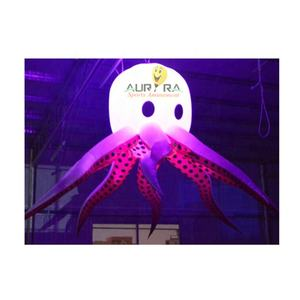 Popular party supplies lighting Inflatable LED Lighting jellyfish for event decoration