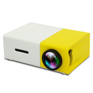 Mini projecteur de poche Portable Android Home cinema YG300 jaune couleur noire