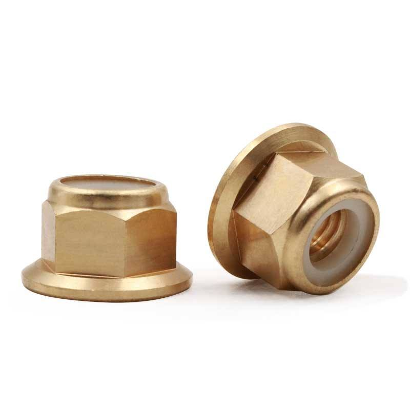 M6 M8 DIN 6926 Brass Hex Flange Nylon Lock Nut