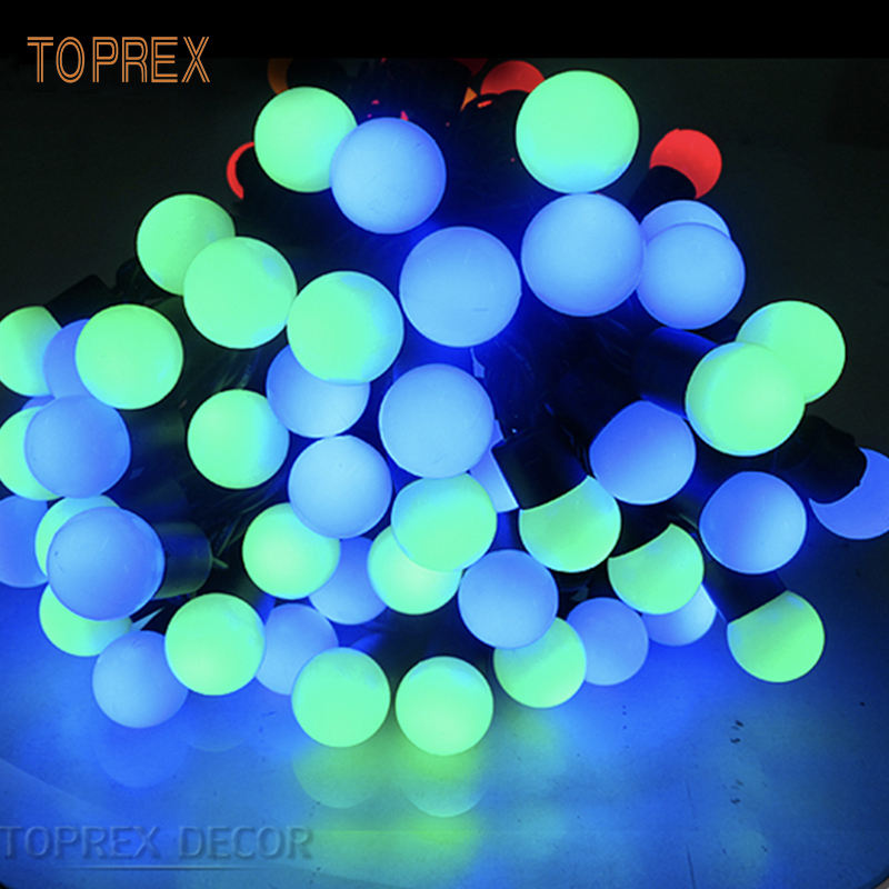 Christmas Decoration Colorful Led Ball Light Chain Led Christmas Outdoor 10m 100 Led ball String Lights Ready To Ship