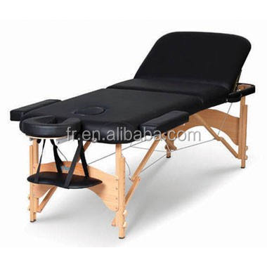 Wood Anji Folding Massage Table Wooden Popular Foldable New Concept Beauty Salon Bed