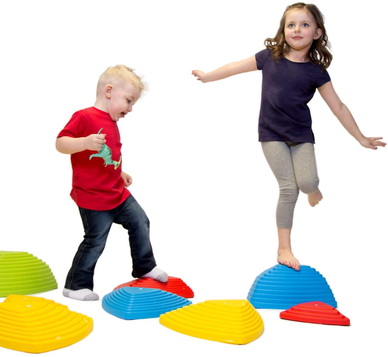 Balance Stepping Stones for kids balance beam montessori toys furniture Obstacle Course River Stones Indoor Outdoor Toy