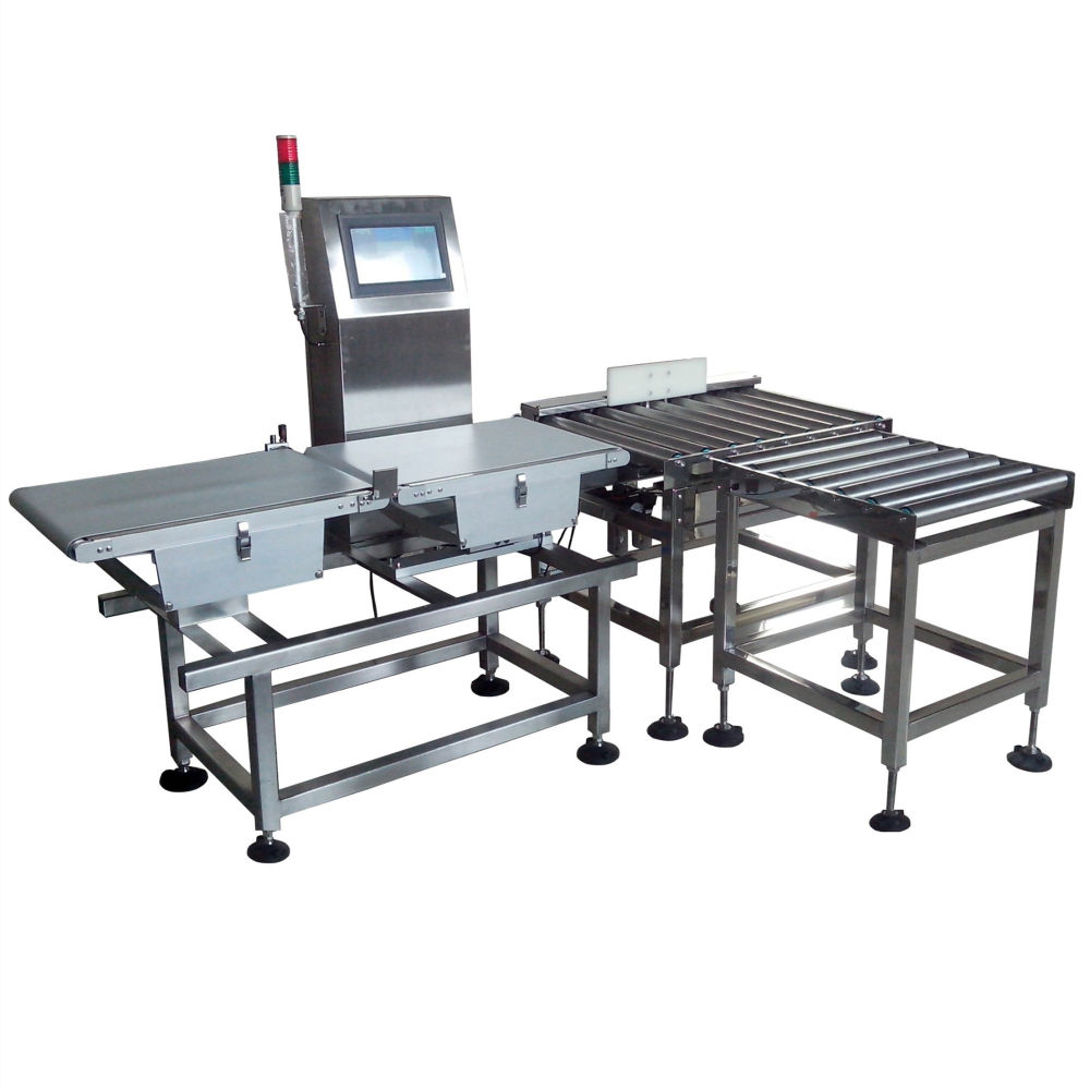 Carton box electronic industrial weighing scale conveyor check weigher weight machine for case