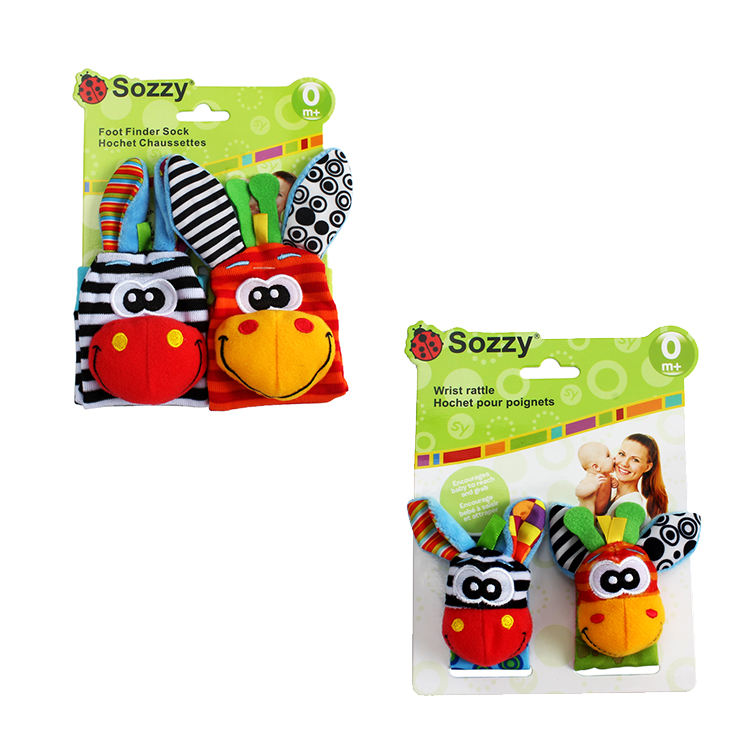 Baby Watch with Socks Ring Bell Suit Packed with Colored Paper