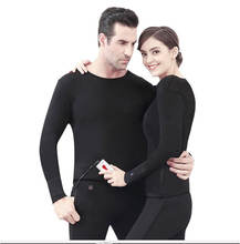 set male and female charging heating clothes pants winter thermal electric heated underwear
