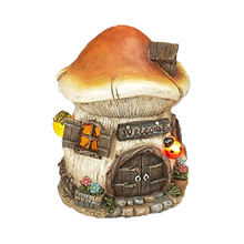 Wholesale hand painted custom design mushroom fairy garden resin miniature house^