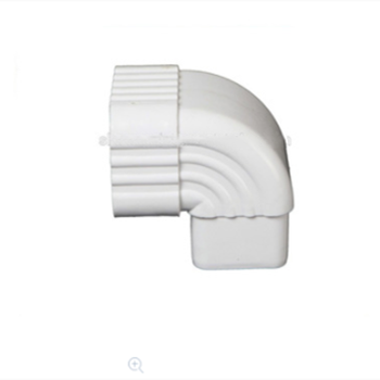 Nigeria 5.2 inch Roof PVC Rainwater Gutter and Downspout Fittings 90 degree downspout elbow