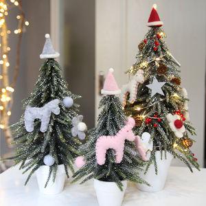 Лучшие продажи Настольный мини пластик Рождественская елка украшения выбирает украшения